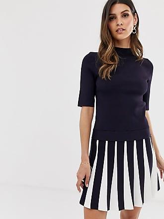ea44579715 Ted Baker Hethia pleat skirt knitted skater dress