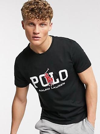 Polo Ralph Lauren T-shirt con logo grande nera - In esclusiva per ASOS-Nero