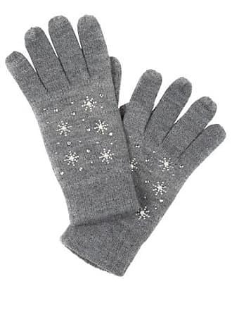 a601e6eb645835 Ulla Popken Handschuhe Damen Größe One Size, grau, Mode in große Größen