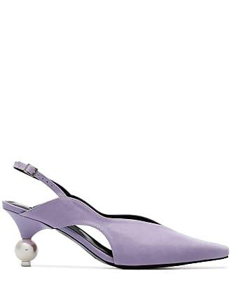 Yuul Yie purple doreen 70 leather slingback pumps