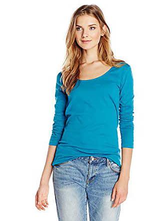 Joan Vass Womens Featherwight Cotton Jersey, Blue Jay, 0