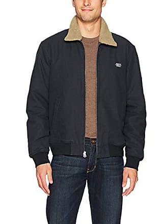 Obey Mens Clubber Bomber Jacket, Black, S