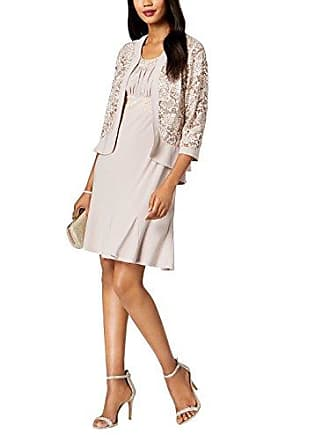 0654047564a R M Richards RM Richards Womens Ruffled Trim Lace Jacket Mother of The Bride  Dress (14
