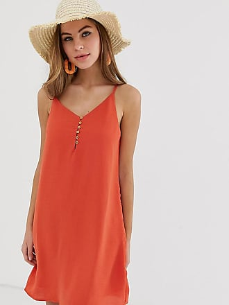 Pimkie cami dress with button front in red