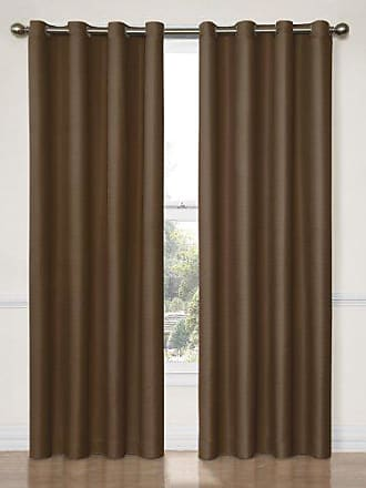 Eclipse 12972052063CHC Dane 52-Inch by 63-Inch Grommet Blackout Single Window Curtain Panel, Chocolate