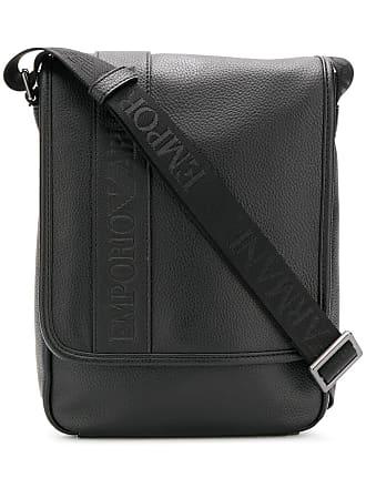 Emporio Armani embossed logo messenger bag - Black 7c0c6ff0e16