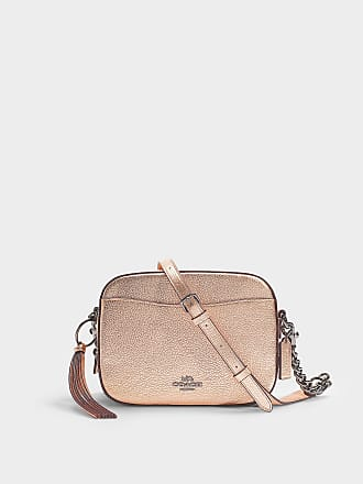 cdf15a9bdd5 Coach Metallic Leather Camera Bag in Pink Calfskin