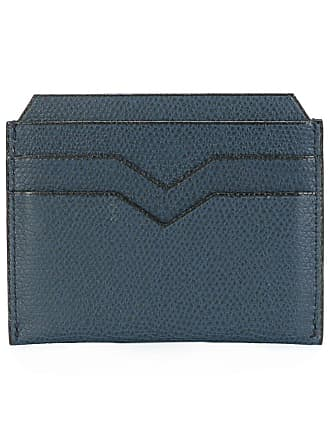 Valextra Costa card case - Blue
