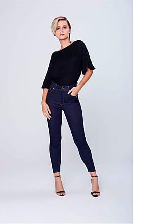 Damyller Calça Cropped Jeans Cintura Super Alta Tam  38   Cor  BLUE a7852c14647