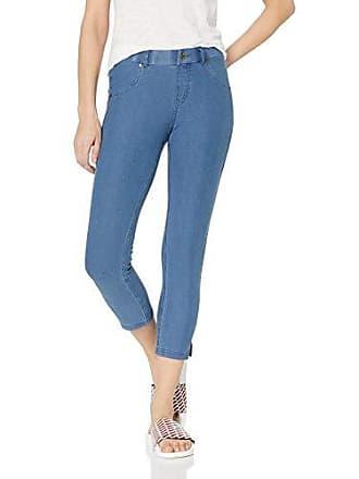 37239dada98611 Hue Womens Essential Denim Jean Capri Leggings, Assorted, Ankle Slit/Medium  Wash M