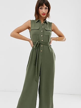 Warehouse Utility-Jumpsuit in Khaki-Grün