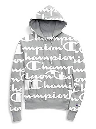 3417e17303ad Champion LIFE Mens Reverse Weave Pullover Hood-Print Giant CHP Script  Oxford Grey Large