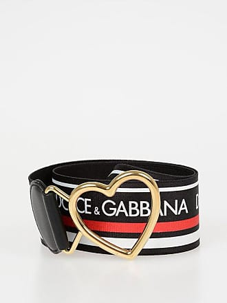 Dolce & Gabbana 5cm Elastic Band Belt With Heart Buckle size 85
