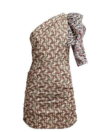 Isabel Marant Liila Paisley Print One Shoulder Dress - Womens - Pink Multi