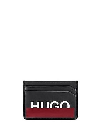 692c4b02c0bbb HUGO BOSS Kartenetui aus Leder mit teilweise verdecktem Logo