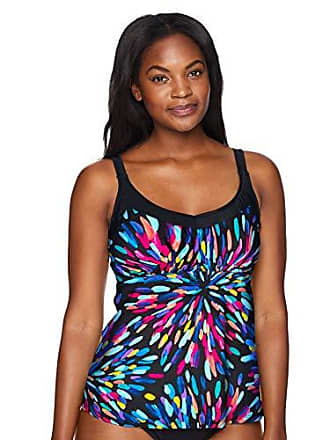 226f2b00ce Maxine Of Hollywood Womens Deluxe Bra Cup Underwire Tankini Swimsuit Top