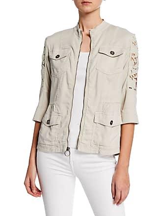 Xcvi Feminine Lace Contrast Jacket
