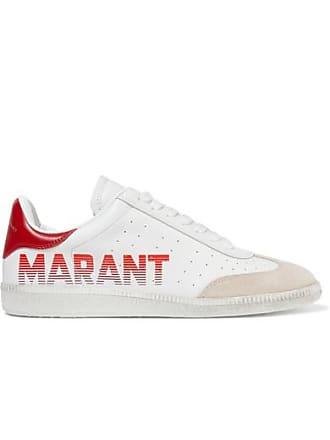 3e9518e31c Isabel Marant Baskets En Cuir Et En Daim À Logo Bryce - Blanc
