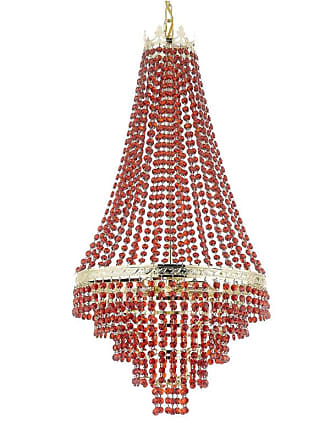 Gallery T22-2322 4 Light 17 Wide Crystal Empire Chandelier Gold