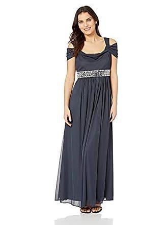 356fc5159d Alex Evenings Womens Long Cold Shoulder Dress (Petite and Regular Sizes)