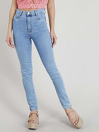 ca18f0e1a Sawary Calça Jeans Feminina Sawary Hot Pant Super Skinny Azul Claro