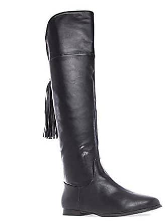 b49f1b8f06f2a7 Andres Machado Damen Overknee Stiefel - Schwarz Schuhe in Übergrößen