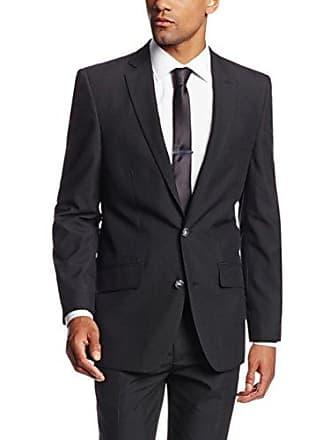 Haggar Mens Twill Slim Fit 2-Button Side Vent Suit Separate Coat, Black, 44 L