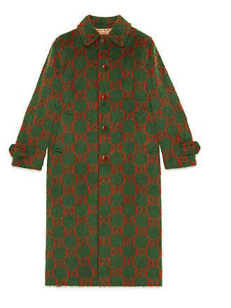 Gucci Cappotto in lana con motivo GG c6f66a998e45