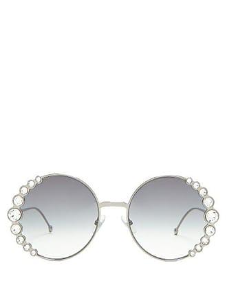 52ecafeec59 Fendi Round Embellished Sunglasses - Womens - Black. In high demand