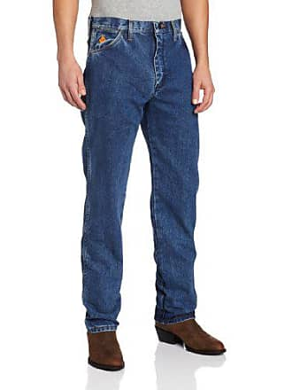 Wrangler Mens Big & Tall Flame Resistant Original Fit Jean, Stonewash, 32x38