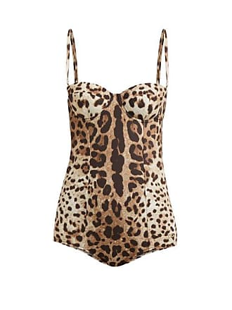4eae7bfc6cf Dolce & Gabbana Leopard Print Balconette Swimsuit - Womens - Leopard
