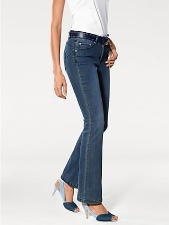 ec3dc84aceb5 Heine Damen Bootcut-Jeans mit Bauch-weg-Funktion, blau, Gr.
