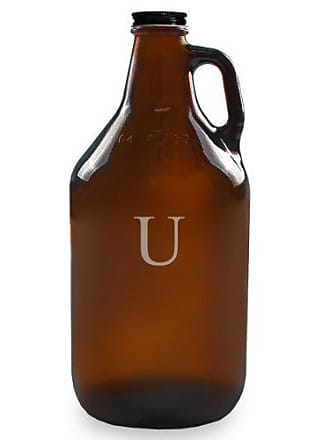 Cathy's Concepts Personalized 64oz Growler, Amber, Letter U