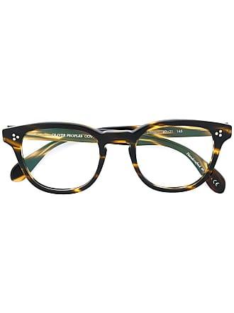 Oliver Peoples Óculos Kauffman com armação arredondada - Marrom