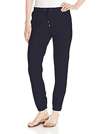 Joan Vass Womens Track Pant, Navy, 2