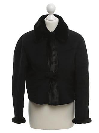 92cbef125fe0 Prada gebraucht - Jacke mit Pelzbesatz - DE 34 - Damen - Schwarz - Wolle