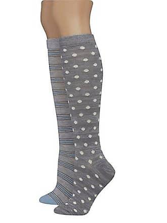 3e9c7626fb6 Hanes Womens Assorted Giftable Knee High Socks 2-Pack Blue Grey Assortment  5-9