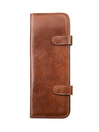Maxwell Scott Maxwell Scott - Luxury Tan Leather Tie Case (Tivoli)