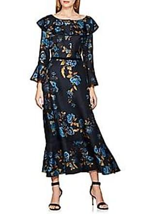 13f82458372d9e Alberta Ferretti Womens Floral-Print Silk Cocktail Dress - Navy Size 38 IT