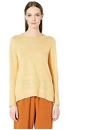 e9e2280ba459ab Eileen Fisher Round Neck Tunic (Cantaloupe) Womens Sweater
