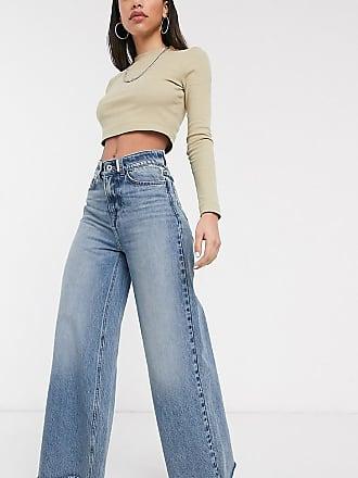 Collusion x008 wide leg jeans in stonewash-Blue