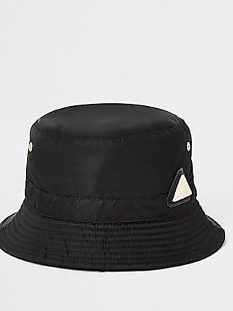 River Island Womens Black RI bucket hat