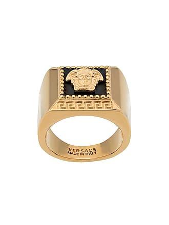 Versace Medusa logo signet ring - Gold