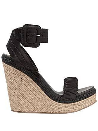 Pedro Garcia Pedro García Woman Teodora Satin Espadrille Wedge Sandals Black Size 40.5