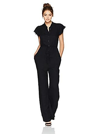 Splendid Womens Long Romper Jumpsuit, Heavy Crosshatch Black, X-Large