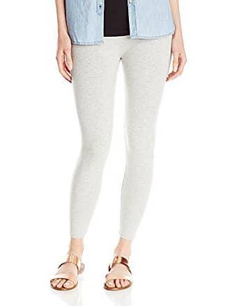 Joan Vass Womens Classic Cropped Legging, Grey Heather, 1
