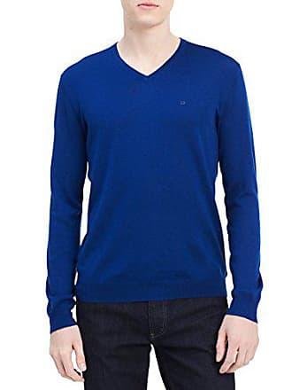 099105c67c8 Calvin Klein Mens Merino Sweater V-Neck Solid