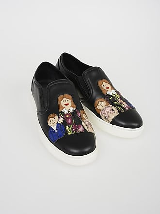 Dolce & Gabbana Leather LONDON Slip Ons with FAMILY Patch size 38,5