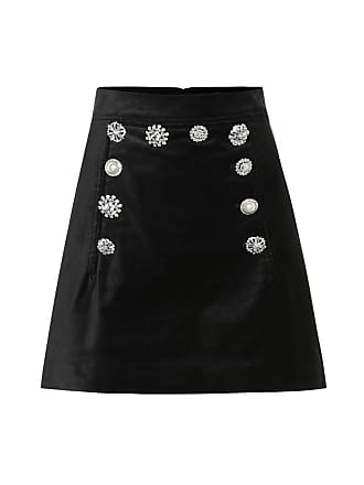 Veronica Beard Ording velvet miniskirt