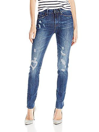 G-Star Womens 3301 Ultra High Rise Skinny Fit Jean in Hadron Stretch Denim, Medium Aged Antic Restored, 25